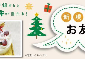 クリスマスケーキが当たる!お友達紹介キャンペーン